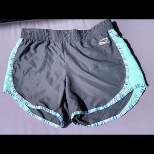 Skechers Lined Sport Shorts Grey/Teal Size Small